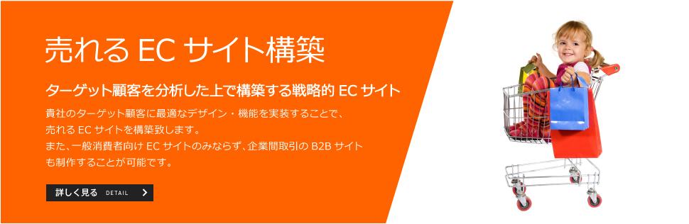 売れるECサイト構築。ターゲット顧客を分析した上で構築する戦略的ECサイト。