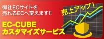 売上アップ。御社ECサイトを売れるECへ変えます。EC-CUBEカスタマイズ・サービス。