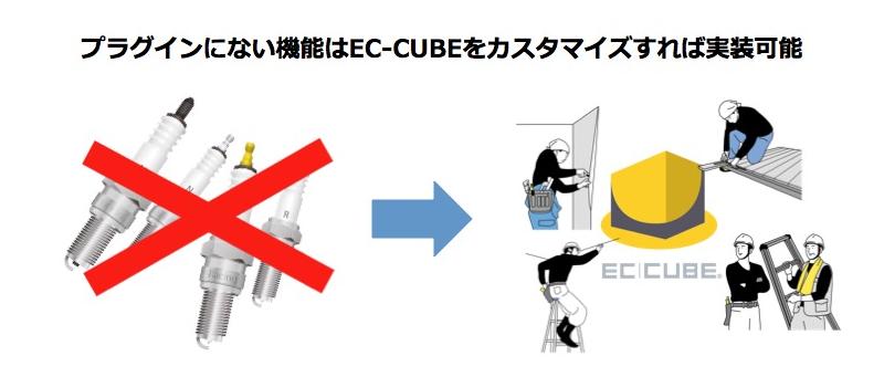 プラグインにない機能はEC-CUBEをカスタマイズすれば実装可能
