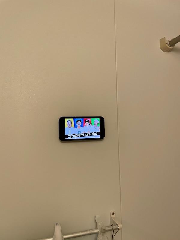 お風呂にiPhoneをマウントしてみた