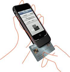 iPhoneでクレジットカード決済