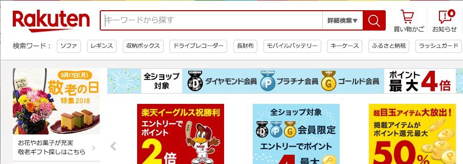 楽天市場の検索ワード